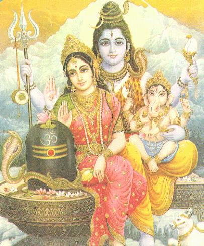 Lord Shiva and Parvati